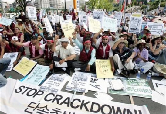 South Korea Foreign Workers Protest